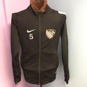 Nike Black Mens Athletic Soccer Jacket Dri-fit